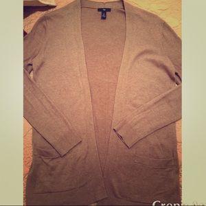 Gap Cardigan Tan Sweater